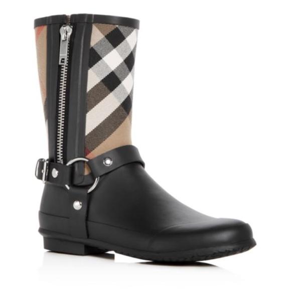 Burberry Zane Signature Check Rain Boots ☔️